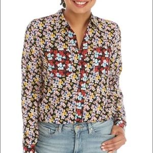Tommy Hilfiger Floral Popover Shirt blouse NWT M